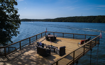 Spectacular Views! Lakefront Home-Massive Deck on the Main Channel, Sauna & More